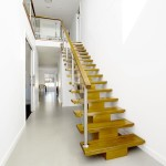 Inside viewcapturing thecustom timber staircase.